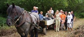 Chantier nature avec implication des habitants locaux