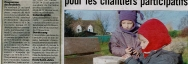 Coupon de presse, chantier nature participatif Blongios à Hazebrouck