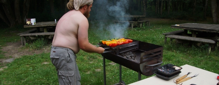 Début de la cuisson