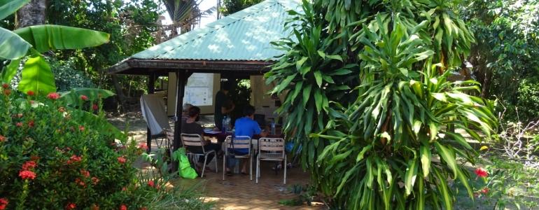 """La """"salle de formation : le carbet du Graine Guyane à Cayenne"""