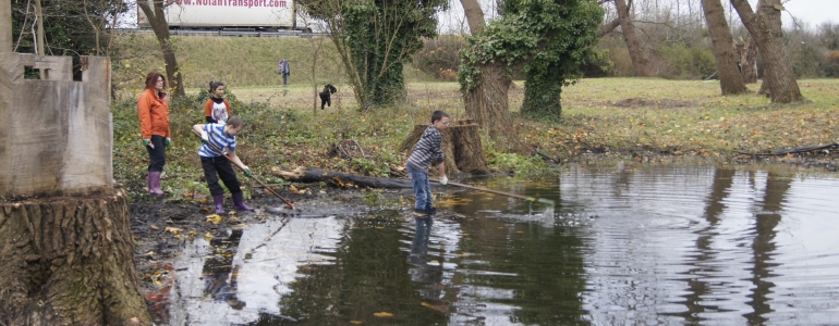 Curage doux des bords de berges