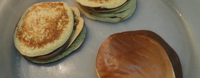 Les pancakes cuits