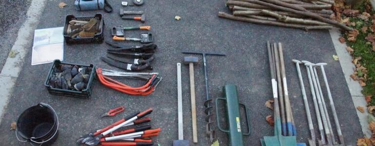 Une logistique outils conséquente...