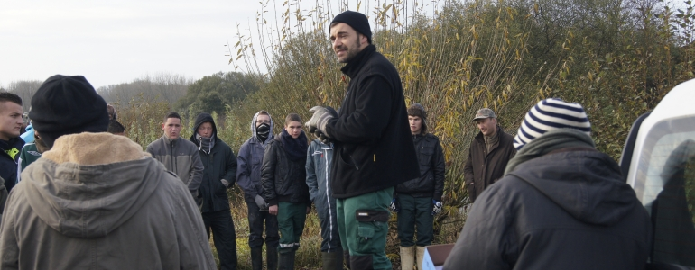 Présentation du site par Sébastien Mézière, technicien au Pnr Cmo