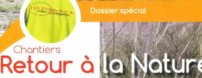 Extrait du magazine d'Hazebrouck sur les chantier nature Blongios