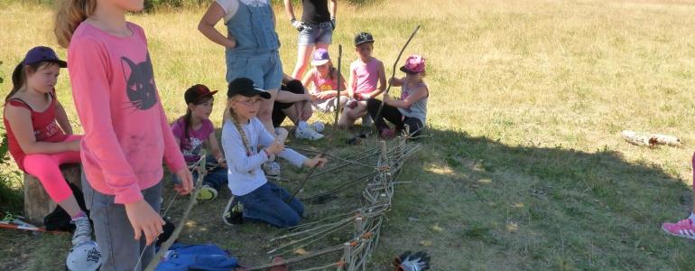 Stand de tir...pour arcs et flèches en noisetier