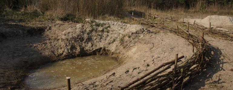 Panne creusée et securisée