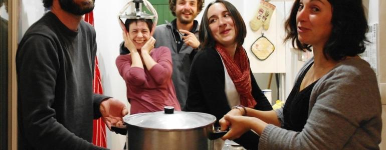 Préparation conviviale des soupes Blongios !